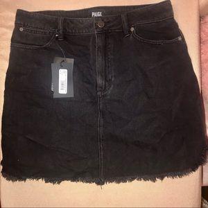 PAIGE black denim mini skirt NWT